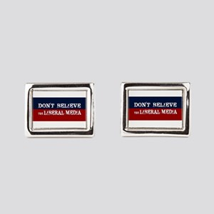DONT BELIEVE THE LIBERAL MED Rectangular Cufflinks