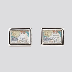 Ernst Haeckel Map Lemuria Human Origins Cufflinks