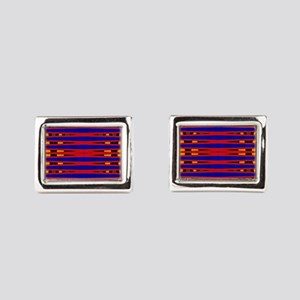 Bright Red Blue Modern Abstract Cufflinks