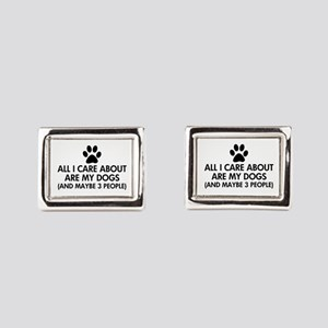 All I Care About Are My Dogs Rectangular Cufflinks