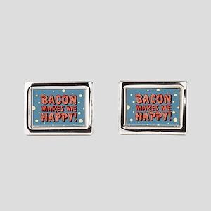 bacon-makes-me-happy_b Rectangular Cufflinks