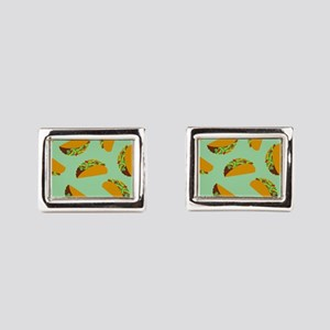 Taco Pattern Rectangular Cufflinks