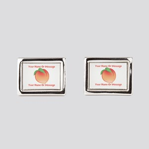 PERSONALIZED Peach Cute Rectangular Cufflinks