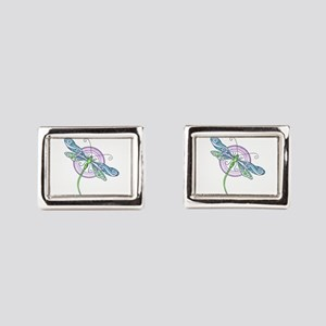 Whimsical Dragonfly Rectangular Cufflinks