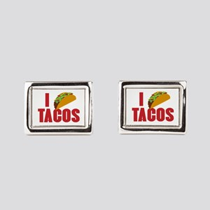 I Love Tacos Rectangular Cufflinks