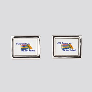 Books Best Friends Rectangular Cufflinks