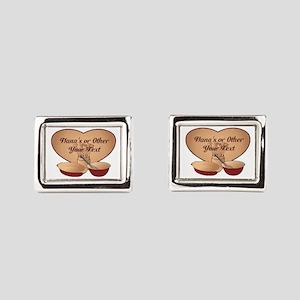 Personalized Cooking Rectangular Cufflinks