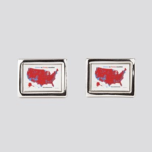 Trump vs Clinton Map Rectangular Cufflinks