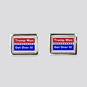 Trump Won Get Over It! Rectangular Cufflinks