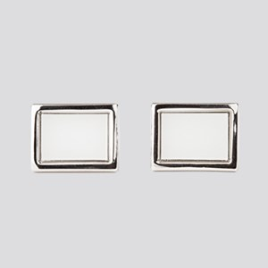 Gray rabbit bunny baby and y Rectangular Cufflinks