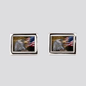 We The People Rectangular Cufflinks