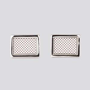 white with red dots Cufflinks