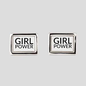 Girl Power Rectangular Cufflinks