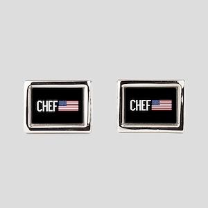 Careers: Chef (U.S. Flag) Rectangular Cufflinks