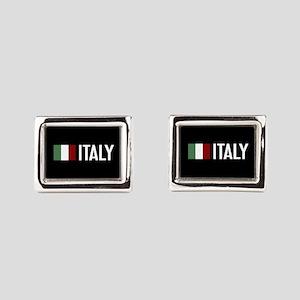 Italy: Italian Flag & Italy Rectangular Cufflinks