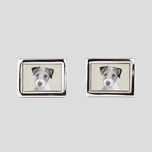 Russell Terrier (Rough) Rectangular Cufflinks