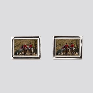 Fox Hunt Rectangular Cufflinks