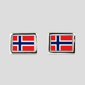 Flag of Norway Rectangular Cufflinks