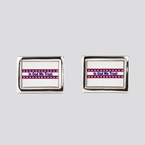 In God stripes Rectangular Cufflinks