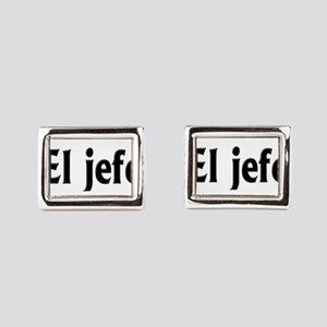 El jefe (The Boss) Rectangular Cufflinks