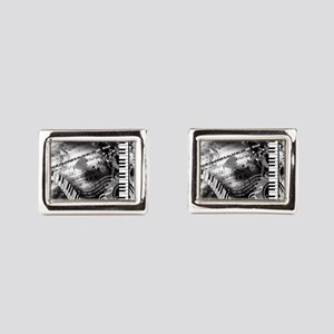 Classical Piano Art Musician Rectangular Cufflinks