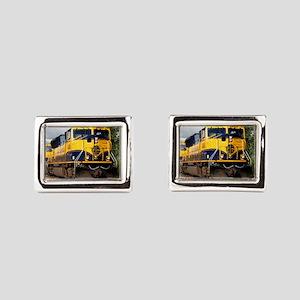 Alaska Railroad engine locom Rectangular Cufflinks