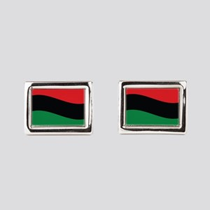 The Red, Black and Green Flag Rectangular Cufflink