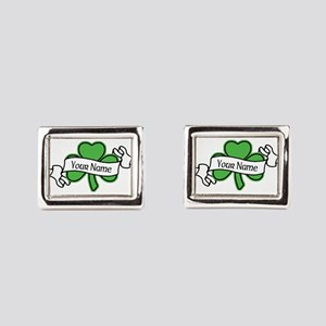 Shamrock CUSTOM TEXT Cufflinks