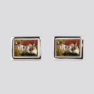 Brittany spaniels in the field Cufflinks