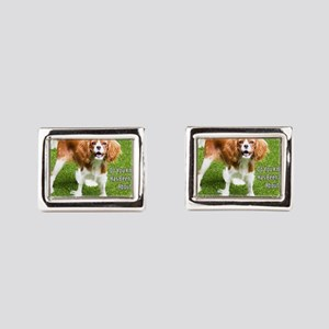 King Charles Spaniel Thinking About You  Cufflinks