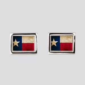 Vintage Flag of Texas Rectangular Cufflinks
