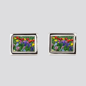 Spring garden flowers Cufflinks
