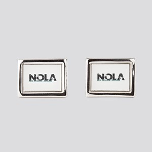 NOLA New Orleans Turquoise G Rectangular Cufflinks