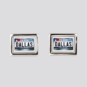 texas-licenseplate-dallas.pn Rectangular Cufflinks