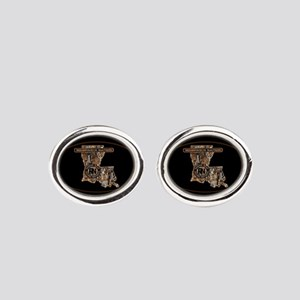 LOUISIANA RIG UP CAMO Oval Cufflinks