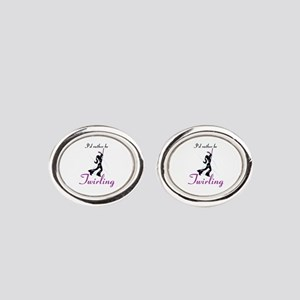 Rather Be Twirling Oval Cufflinks