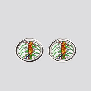 McDerMer's Wall Painting Oval Cufflinks