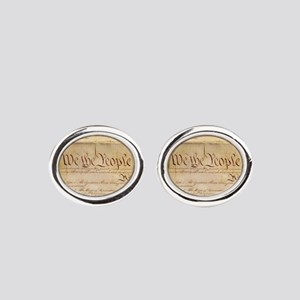 US CONSTITUTION Oval Cufflinks