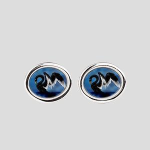 Black Swan Oval Cufflinks