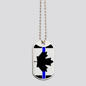 Canadian Police: Thin Blue Line Dog Tags