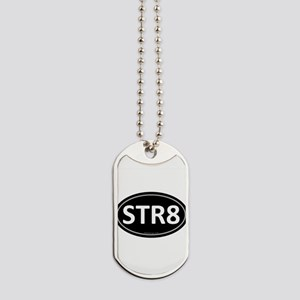 STR8 Black Euro Oval Dog Tags