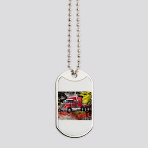 Big Truck - Red and Chrome Dog Tags