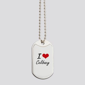I love Celibacy Artistic Design Dog Tags