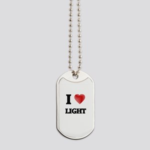 I Love Light Dog Tags