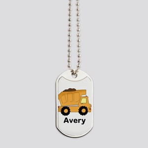 Avery's Dump Truck Dog Tags