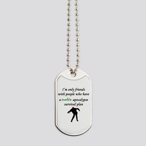 Zombie Plan Dog Tags