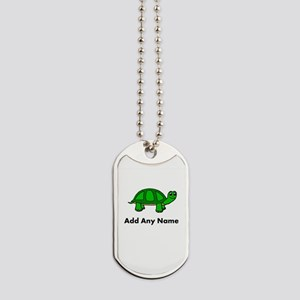 Turtle Design - Add Your Name! Dog Tags