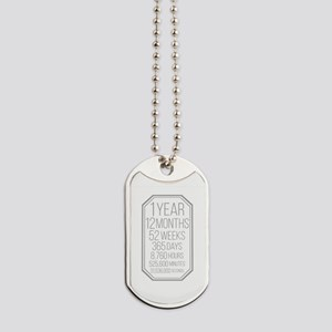 1 Year (Gray Chevron) Dog Tags