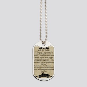 The veterans dog tags