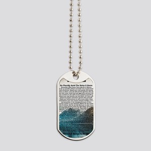 Desiderata on Rocky Mountain Lake Dog Tags